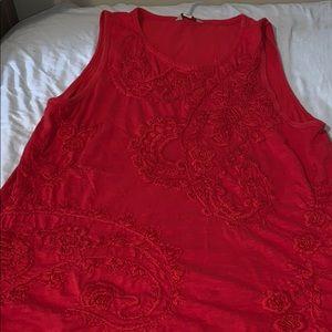 Lucky Brand Red Tank Top